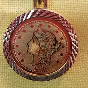 unknown Jewelry - Bicentennial Coin Necklace 1776-1976